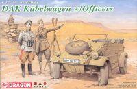 Model Kit military 6364 - DAK KÜBELWAGEN W/OFFICERS (1:35)