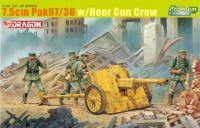 Model Kit military 6445 - 7.5CM PAK 97/38 W/HEER GUN CREW (1:35)