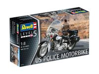 Plastic ModelKit motorka 07915 - US Police Motorbike (1:8)