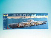 Plastic ModelKit ponorka 05078 - Deutsches U-Boot Typ XXI mit Interieur (1:144)