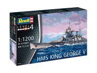 Plastic ModelKit loď 05161 - HMS King George V (1:1200)