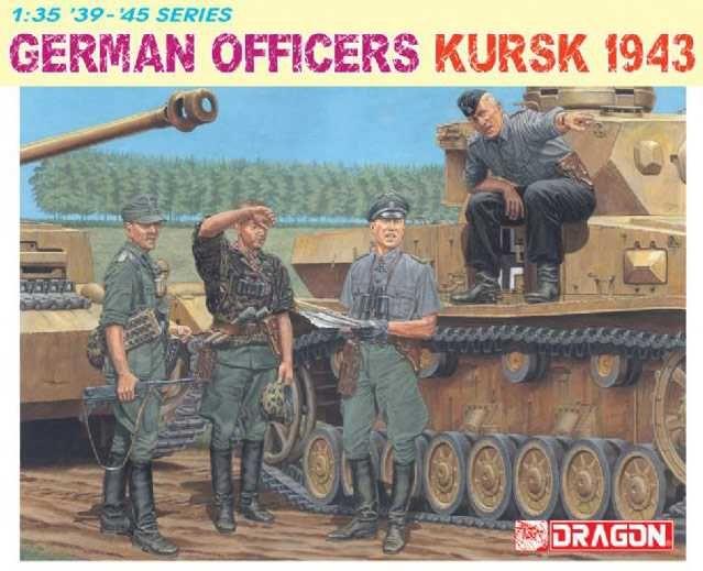 Model Kit figurky 6456 - GERMAN OFFICERS (KURSK 1943) (1:35) Dragon