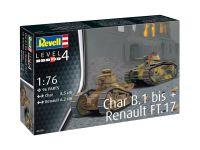 Plastic ModelKit military 03278 - Char B.1 bis & Renault FT.17 (1:76)