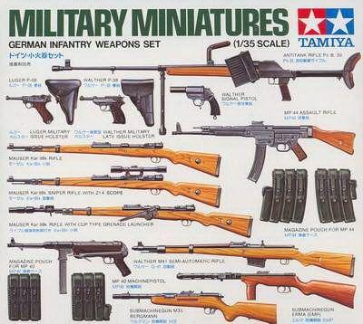 German Weapons Set Tamiya