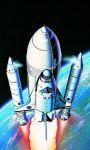 Model Kit vesmír 12707 - 1/288 SPACE SHUTTLE W/BOOSTER ROCKET MCP (1:288)