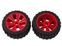 REVELL - REVELLUTIONS (47208) - Set 2x Wheel for Monster, red
