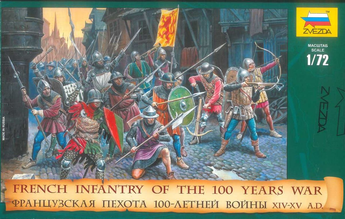 Wargames (AoB) figurky 8053 - French Infantry of the 100 Years War (1:72) Zvezda