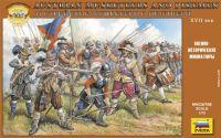 Wargames (AoB) figurky 8061 - Austrian Musketers and Pikeman (1:72)